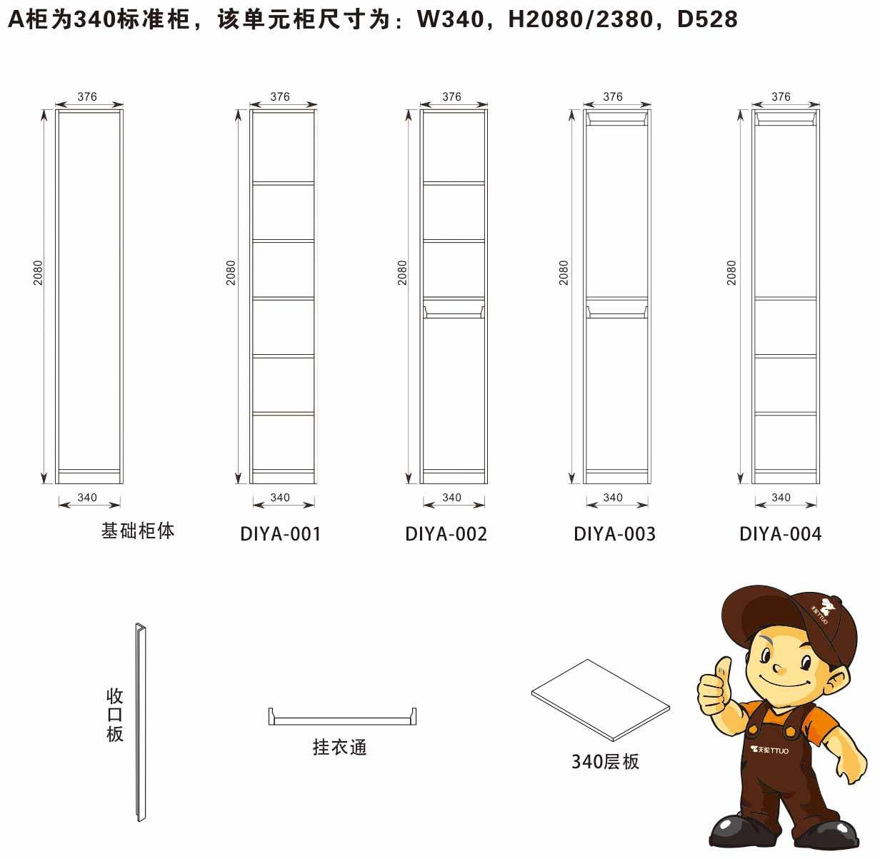 衣柜配套结构参数详细解析